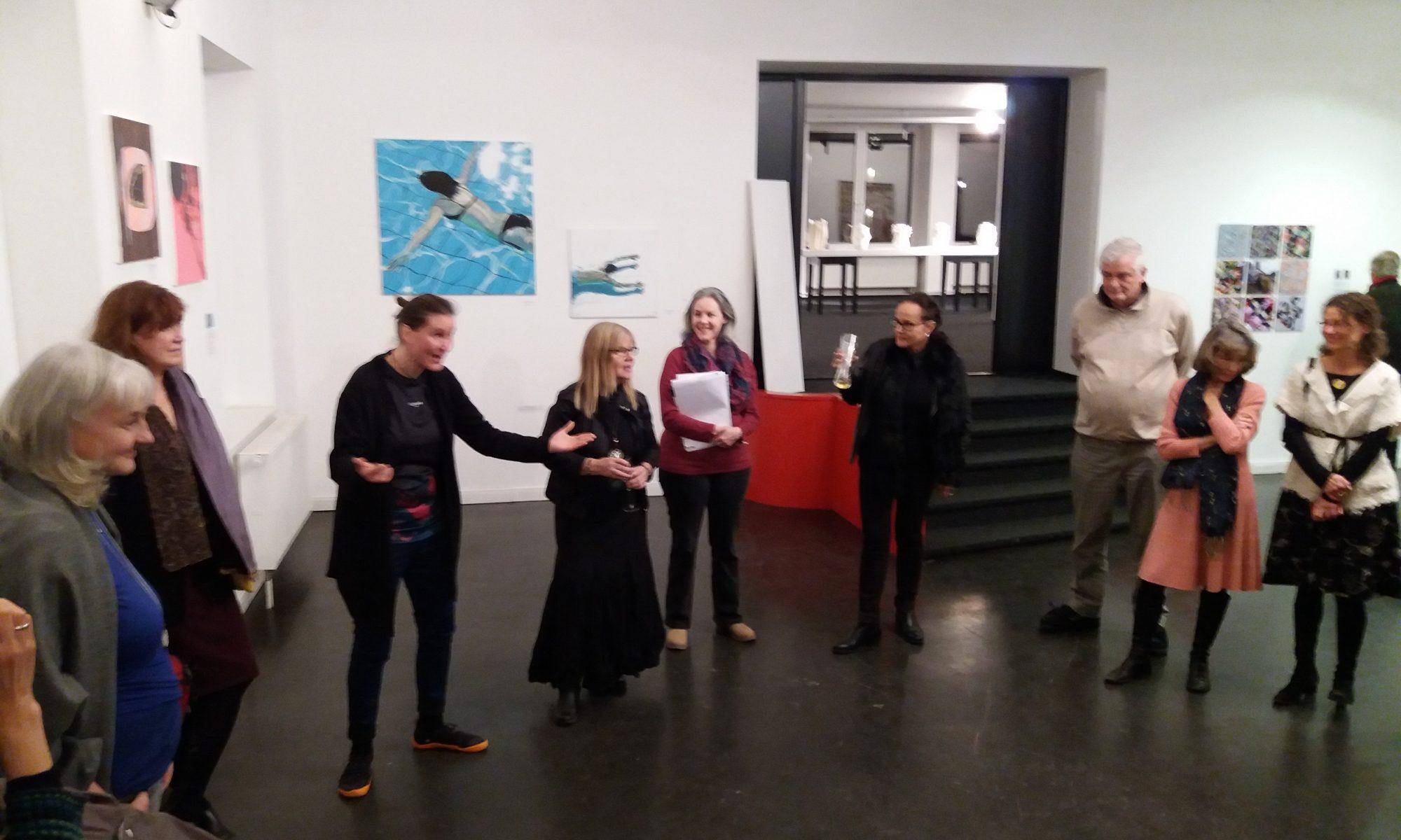 Diessener Kunstsalon: Briefing vor der Vernissage