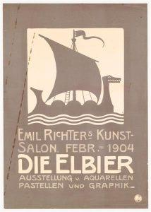Plakat zur Ausstellung 1904 im Kunstsalon Emil Richter