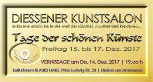 Diessener Kunstsalon Einladungskarte Dezember 2017